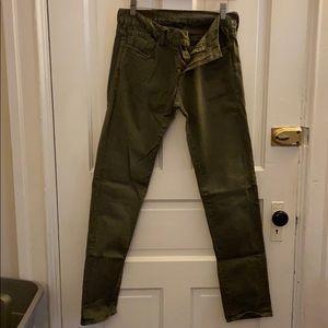 American Eagle Olive Skinny Jeans